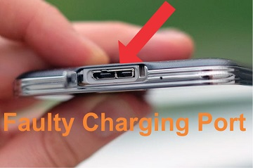 Faulty charging port